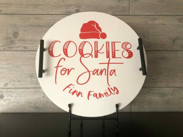 Cookies for Santa Wooden Tray