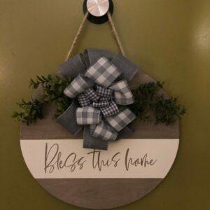 Bless This Home Door Hanger