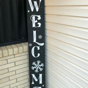 Winter Welcome Porch Sign