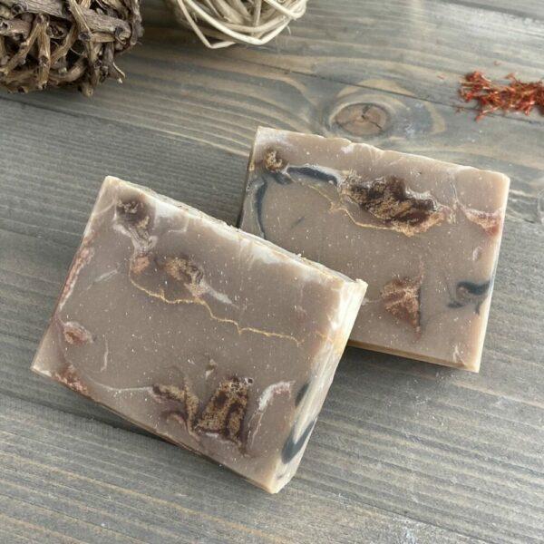 Cedar & Saffron Silk Artisan Soap