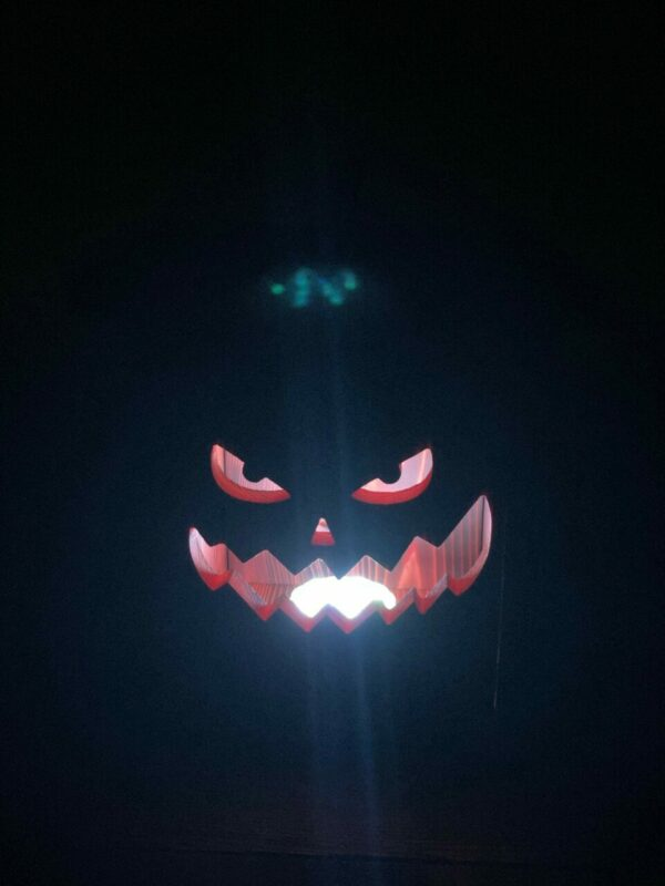 Jack – Wooden Jack-O-Lantern with Indoor/Outdoor Remote Controlled LED Light