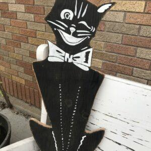 Black Cat Reclaimed Wood Sign