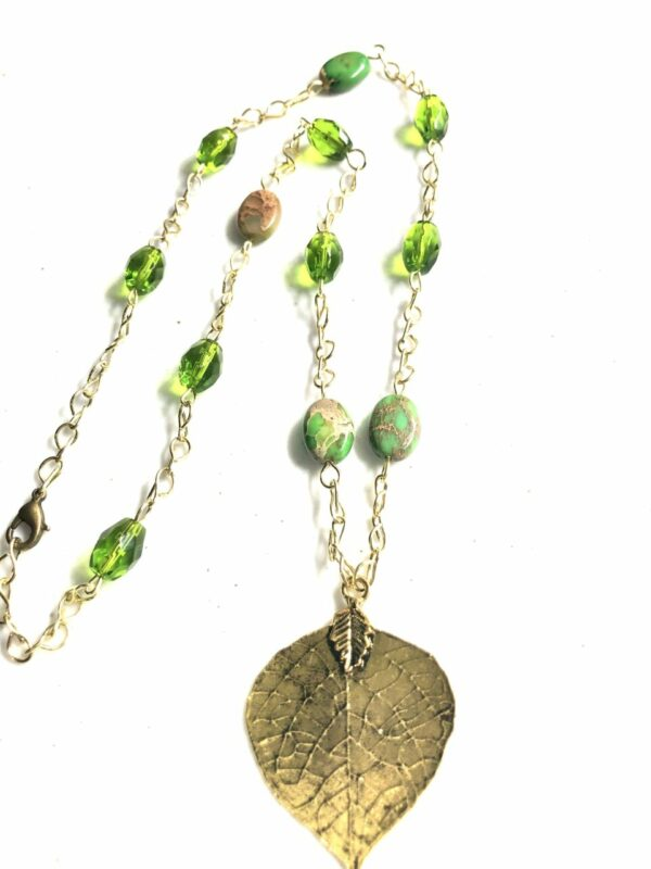 Women's fall leaf necklace