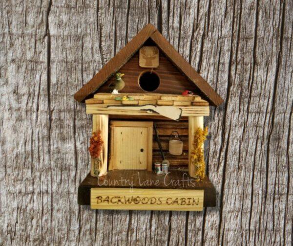 Backwoods Cabin Log Cabin Style Birdhouse