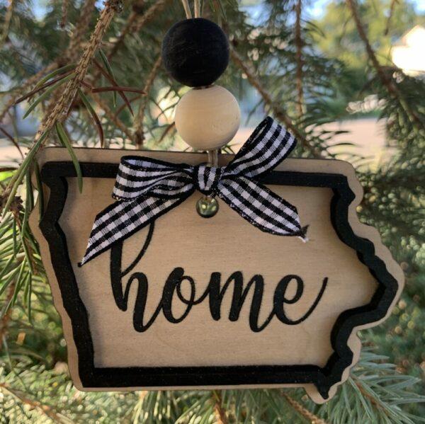 State of Iowa Christmas Ornament