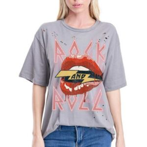 Rock & Roll Distressed Graphic Tee