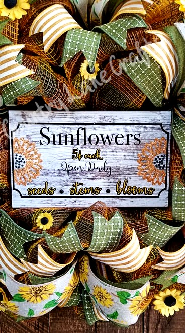 Fall Decor Sunflower Front Door Wreath