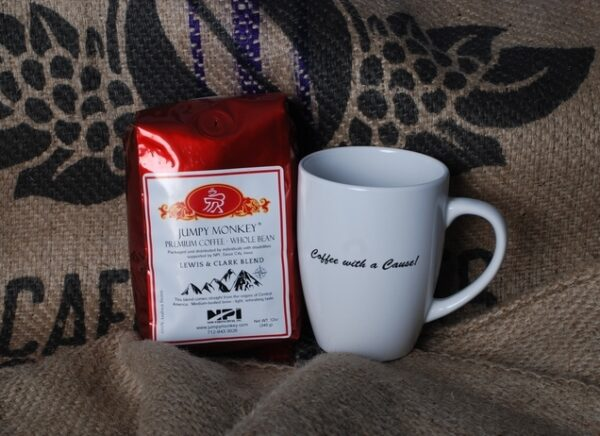 Jumpy Monkey Coffee Mug & Lewis & Clark Coffee