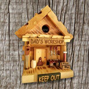 Dad's Workshop Log Cabin Style Birdhouse
