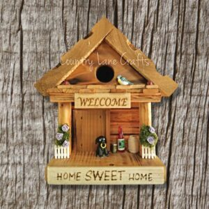 Home Sweet Home Log Cabin Style Birdhouse