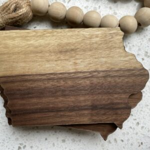 Black Walnut Iowa Coasters | Set of 4