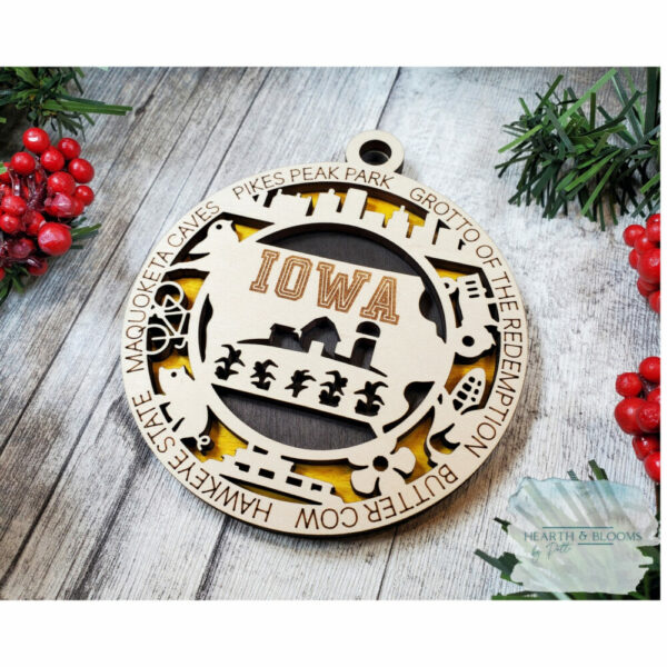 State Christmas Ornaments – Midwest Region