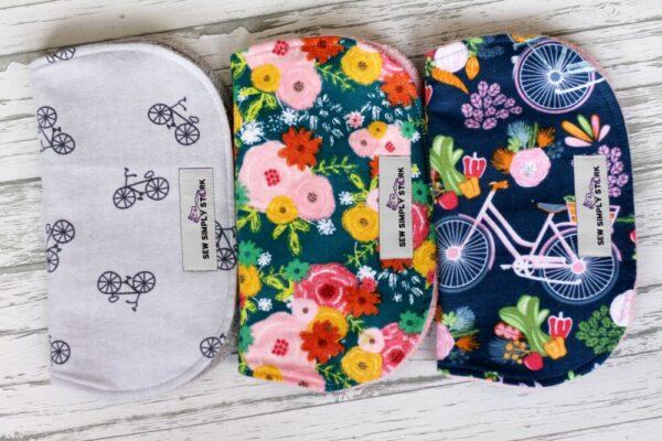 Bicycle Theme Burp Cloth
