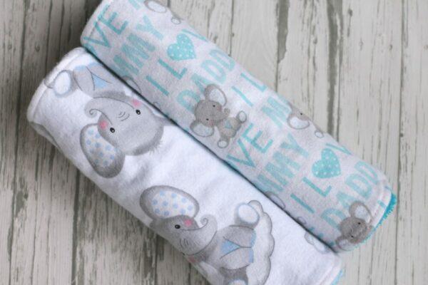 Elephant Themed Burp Cloths