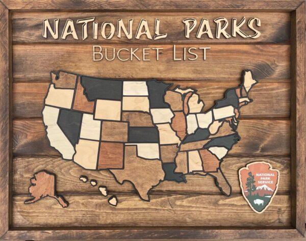 National Parks Bucket List Map
