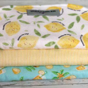 Lemon Theme Burp Cloths