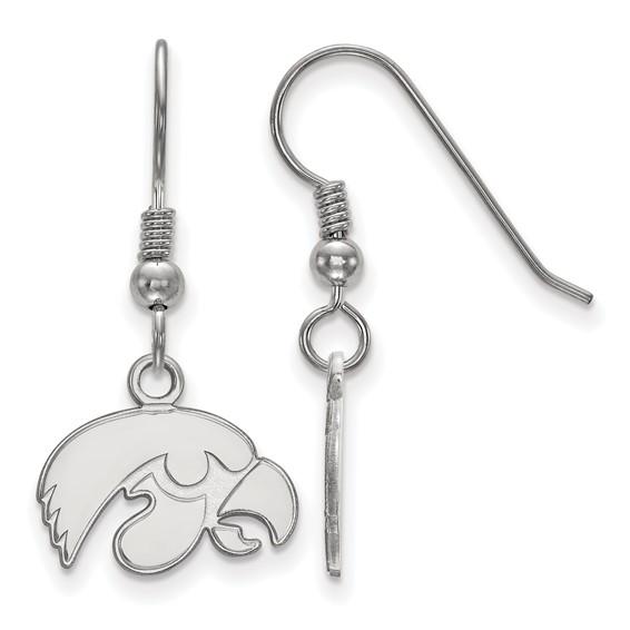 University of Iowa Hawkeyes Sterling Silver Tigerhawk dangle Earrings
