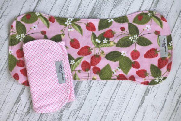 Strawberry Theme Burp Cloths