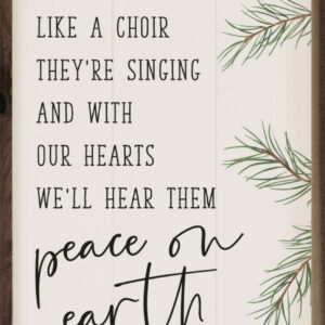 Peace on Earth Good Will to Men White – Kendrick Home Wood Sign