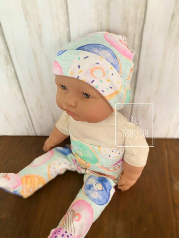 Infant Hat- Custom Donut Print