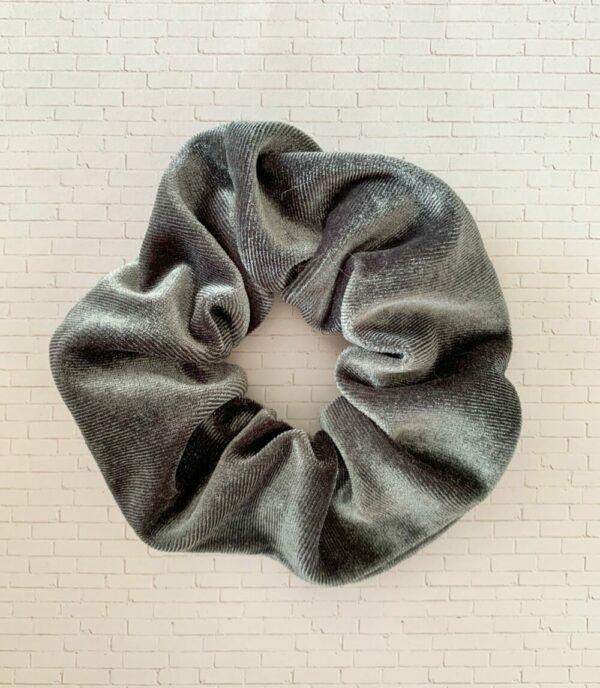 Scrunchies-Grey Velvet
