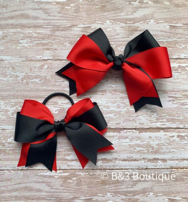 Black/Red Cheer Bow