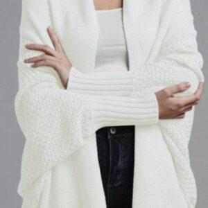 Off White Oversized Sweater Cardi