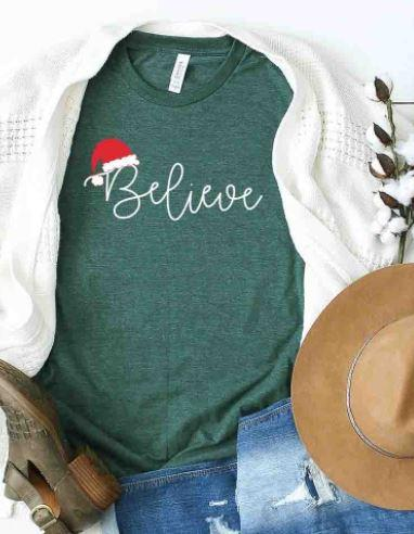 Believe Holiday Graphic Tee