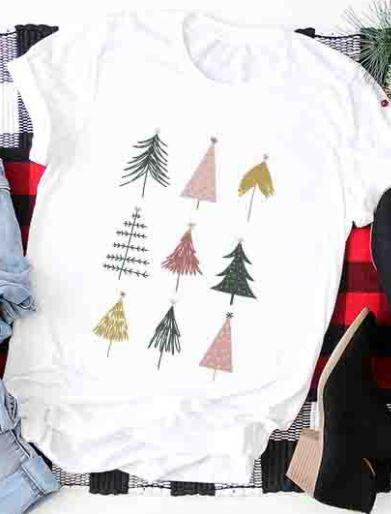 Christmas Trees Holiday Graphic Tee