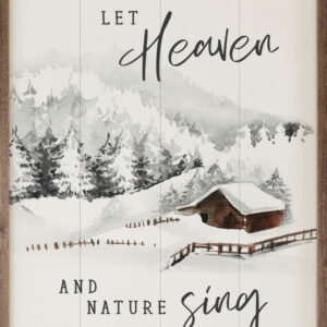 Let Heaven and Nature Sing Cabin White – Kendrick Home Wood Sign