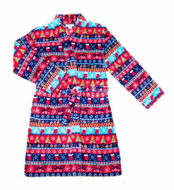 christmas stripe robe