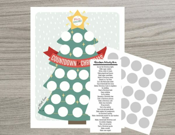 Scratch OFF Christmas Tree Advent Calendar