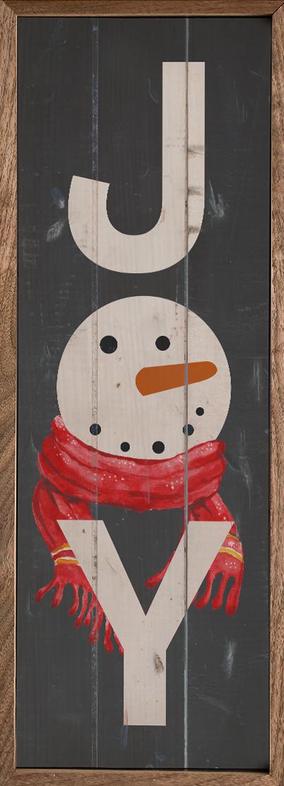 Joy Snowman Gray – Kendrick Home Wood Sign