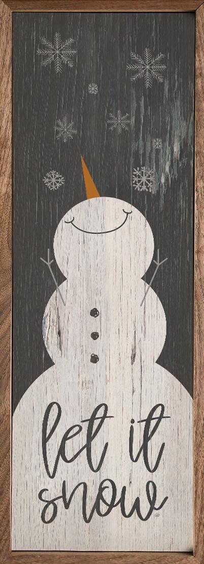 Let it Snow Snowman Black – Kendrick Home Wood Sign