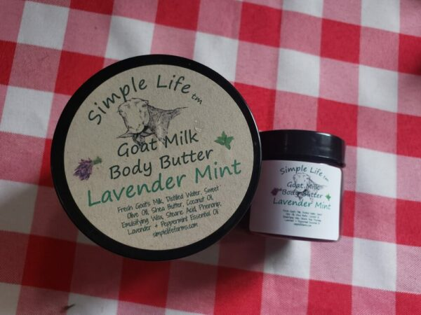 Goat Milk Body Butter, Lavender Mint