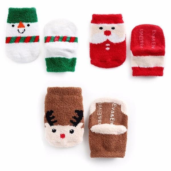 fuzzy christmas socks