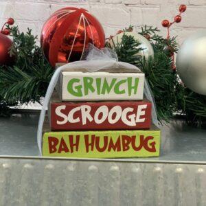Grinch & Schrooge Stacker Blocks