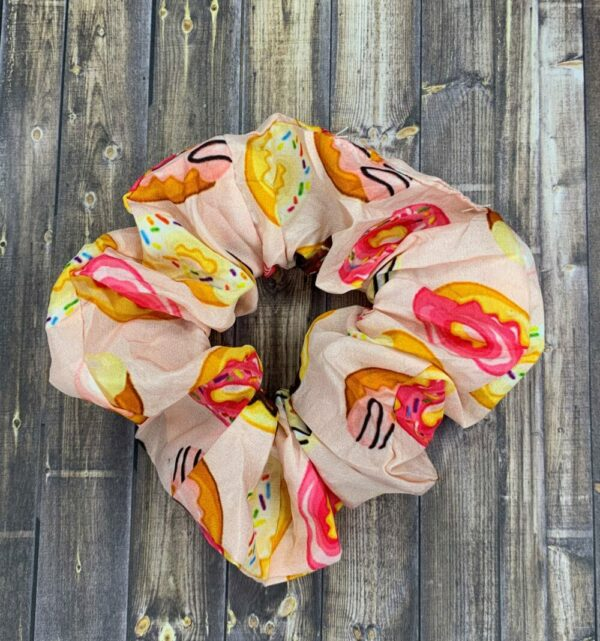Scrunchies- Pink Donuts