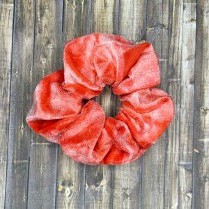 Scrunchies- Red/Pink Velvet Tie-Dye
