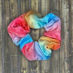 Scrunchies- Rainbow Velvet Tie-Dye