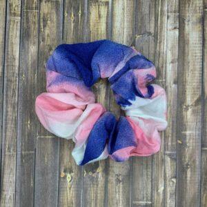 Scrunchies- Pink/Blue Tie-Dye