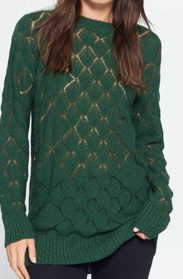 Sage Textured Knit Sweater