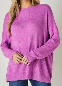 Bubble Pink Slouchy Sweater