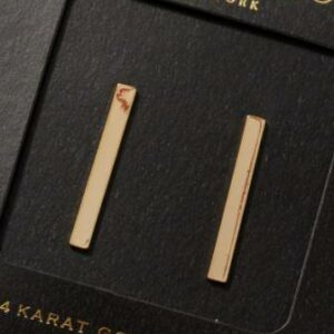 Gold Bar Earrings