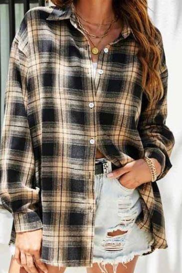 Khaki Plaid Flannel