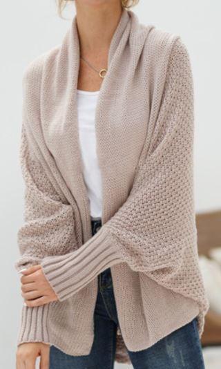Khaki Crochet Cardi