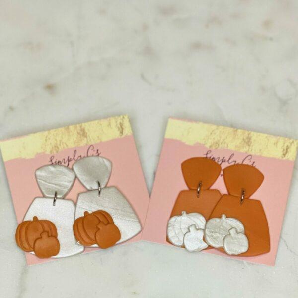 Pumpkin Scarlett Earrings