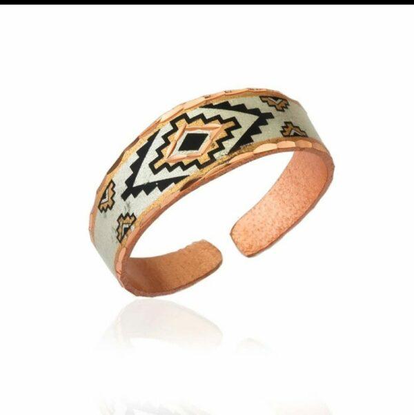 Aztec Sunburst Copper Ring