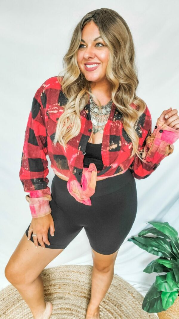 Favorite Flannel – Bleached Red