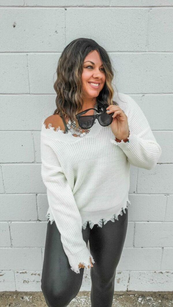 Sara Distressed Sweater (multiple colors)